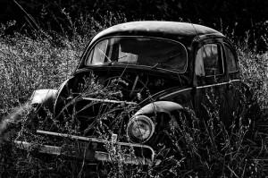 Abandoned old VW Beetle